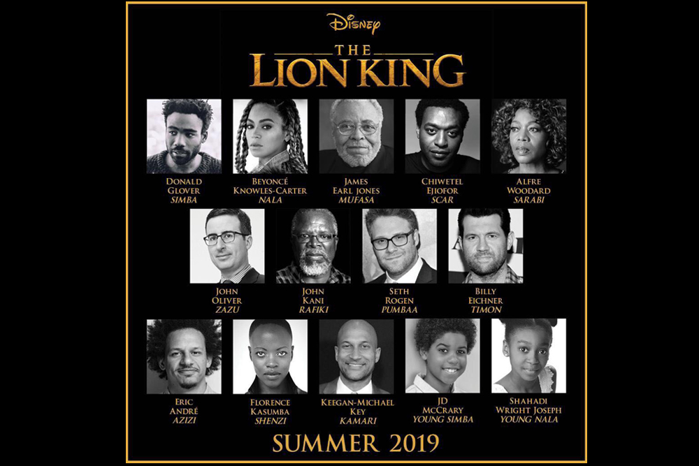 The Lion King Cast 2019