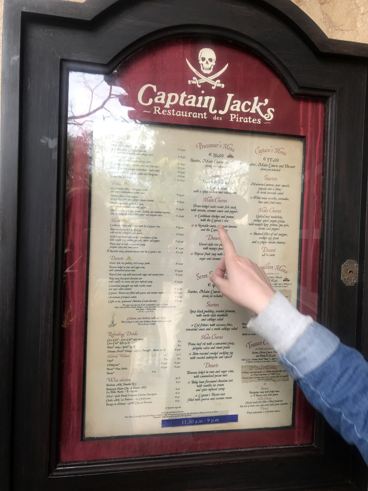 Fussy Eater at Disneyland Paris Captain Jack's