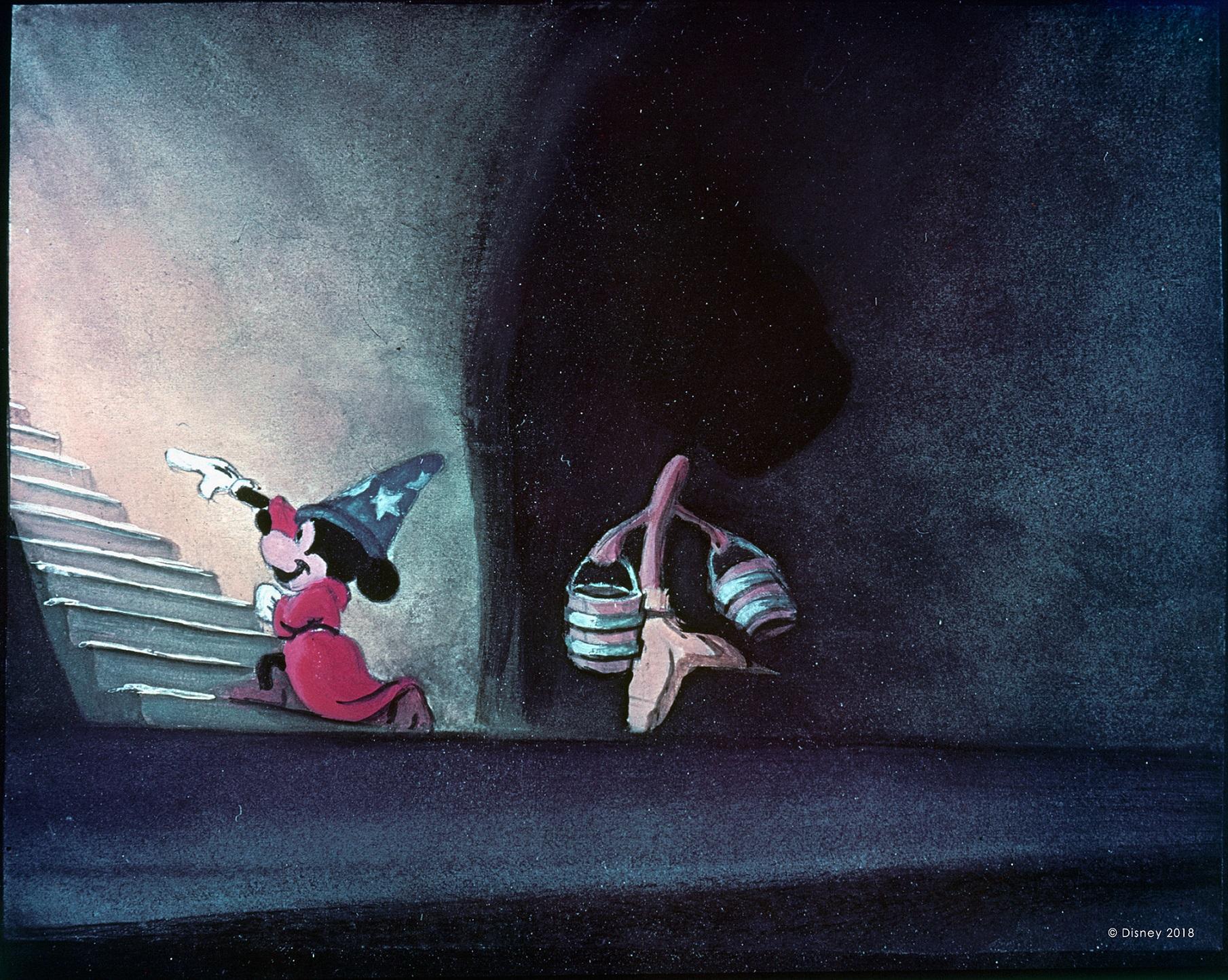 Artwork of Sorcerer's Apprentice Mickey from Walt Disney's Fantasia