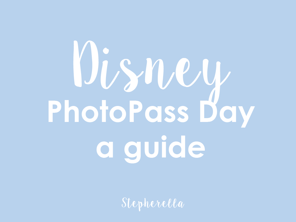 Disney PhotoPass Day 2018 A Guide