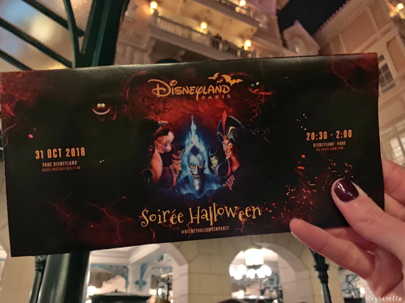 Halloween Soiree Programme Disneyland Paris