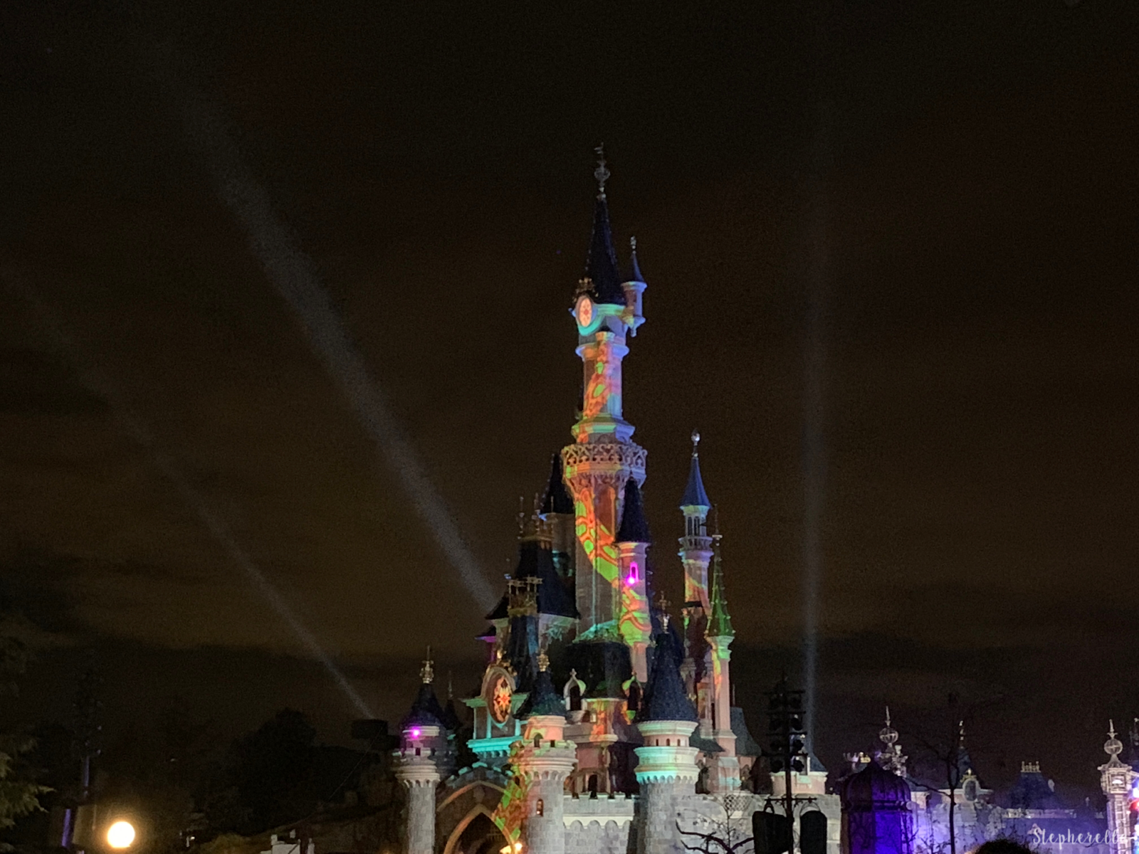 Sleeping Beauty Castle Halloween Disneyland Paris