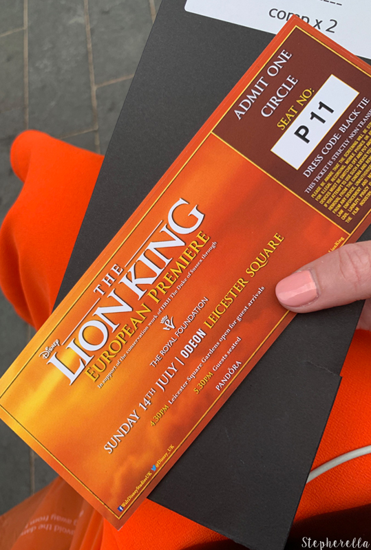 The Lion King Premiere Tickets